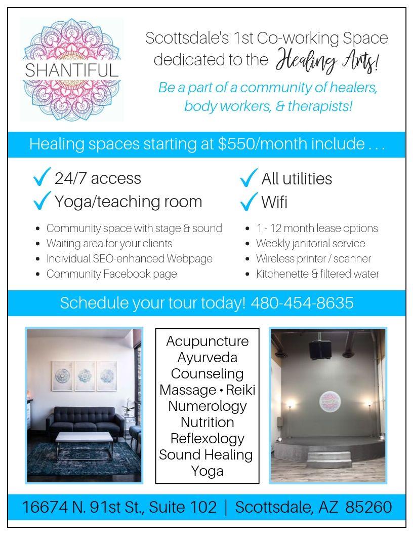 SHANTIFUL, a co-working space dedicated to the Healing Arts!